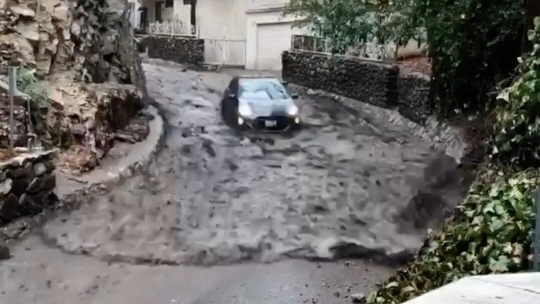 Samochód płynie ulicami miasta