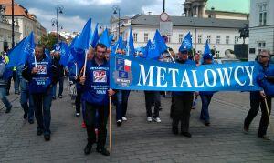 Związkowcy protestowali przed Pałacem Prezydenckim i Sejmem