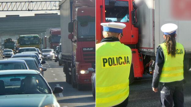 Karambol z udziałem ciężarówek na S8