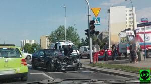 Zderzenie czterech aut na Ursynowie