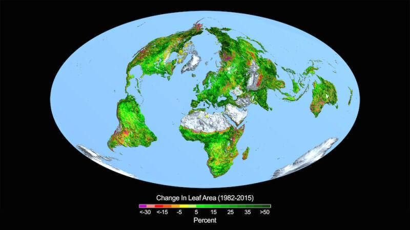 Zmiany w zazielenieniu Ziemi