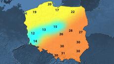 W Zielonej Górze 12, w Krakowie 31 st. C. Niesamowita różnica temperatur
