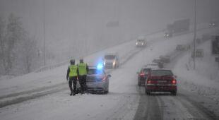 W Białymstoku wciąż pada śnieg