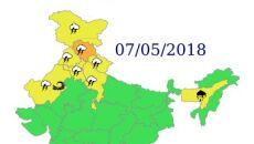 Ostrzeżenia przed niebezpiecznymi zjawiskami nad Indiami - 7 maja (IND)