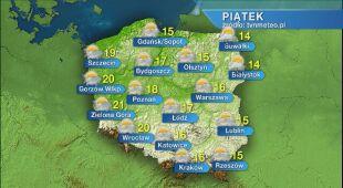 Prognoza pogody na piątek 22.05