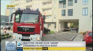 Reporter TVN24 relacjonuje na żywo sytuację w Białymstoku